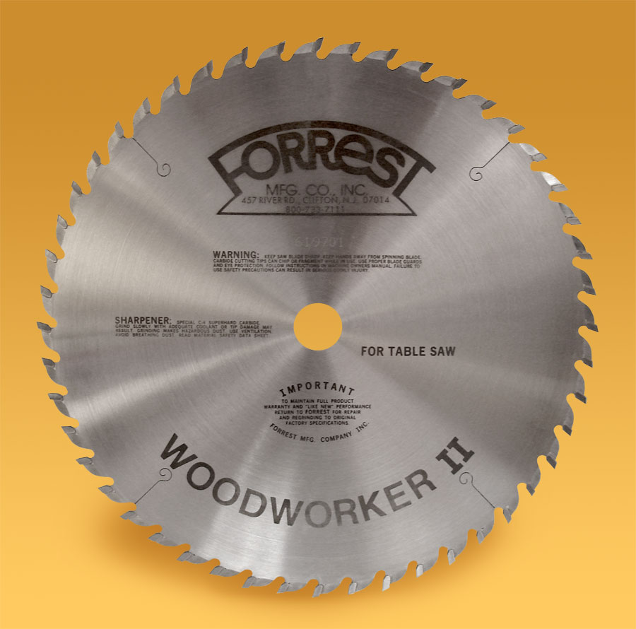 Woodworker II 48 tooth saw blade for table saws