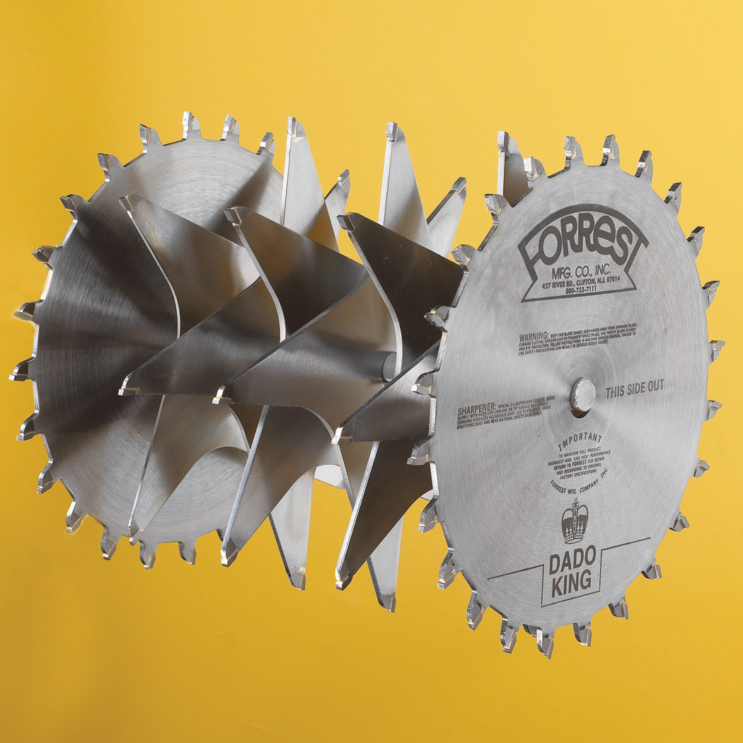Dado king for excellent dado groove in all materials 10 dado dado king for excellent dado groove in all materials 10 dado king saw blade set 2 outside blades 6 chippers and blade runner carrying case forrest keyboard keysfo Images