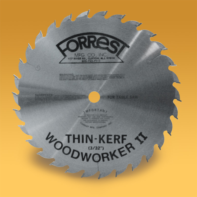 Woodworker II thin kerf saw blade for table saws