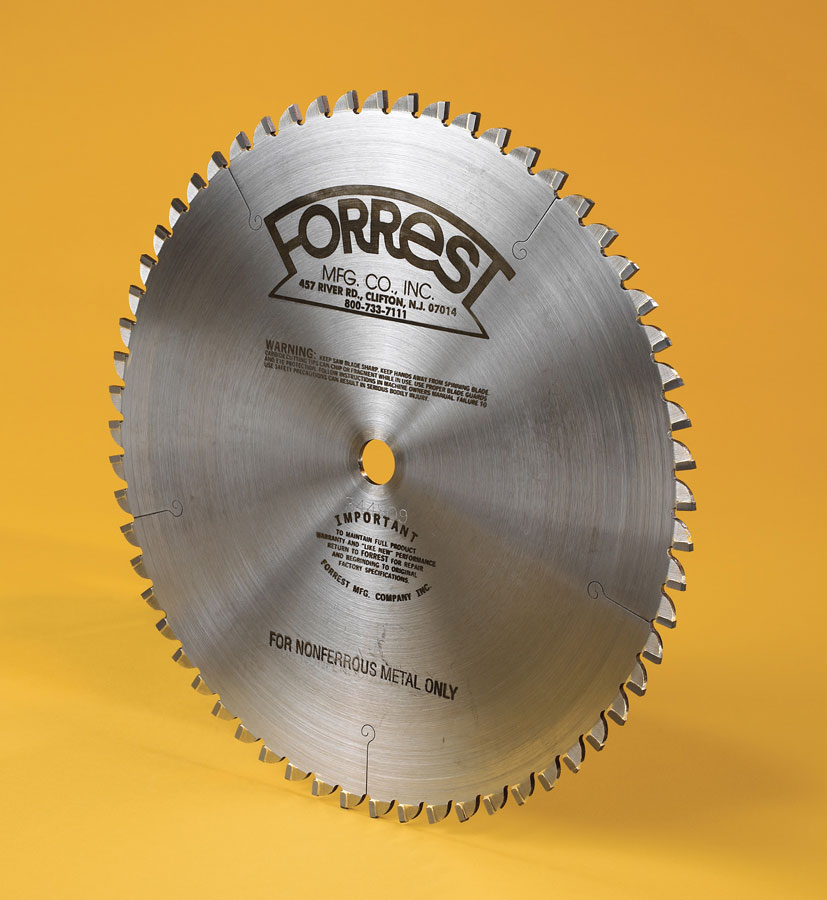 Non-Ferrous saw blade for cutting copper, aluminum and brass